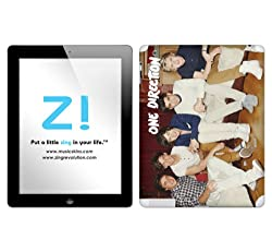 Zing Revolution One Direction Premium Vinyl Adhesive Skin for iPad 2 (Wi-Fi/Wi-Fi + 3G), Sofa Group White (MS-1D700250)