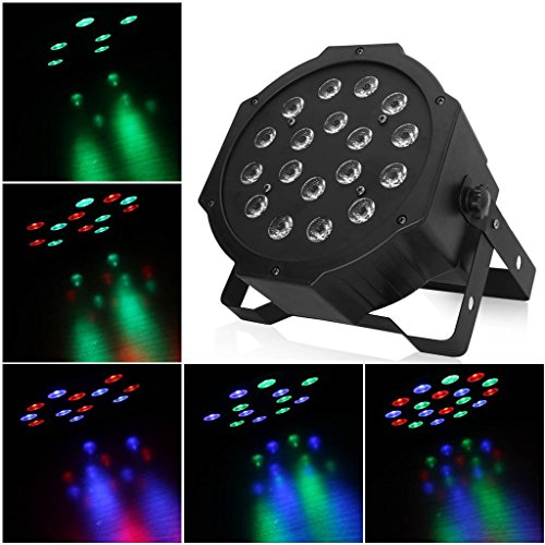 Gbb 18W 7 Channel Led Flat Par Light For Club Dj Disco Stage Party Etc W/ Dmx Control, Xmas Sale! Get Yours Now, Best Price Of The Year!