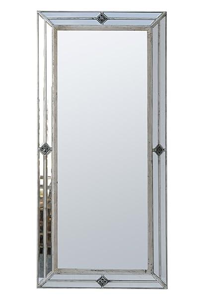 Antique Silver Venetian Pin Cushion Mirror Height: 150cm