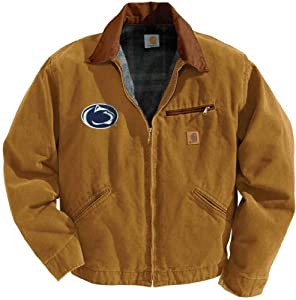 NCAA Penn State Nittany Lions Mens Sandstone Detroit Jacket by Carhartt