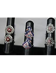 NAK's Combo Of 3 German Silver Toe Rings,Peacock Toe Ring Included - SKUTR115