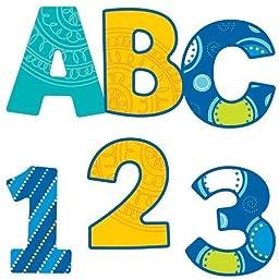 * BUBBLY BLUES EZ LETTERS 76 PC by MotivationUSA