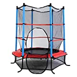FDS 4.5FT Junior Trampoline With Safety Net Kids Toddlers Indoor/Outdoor