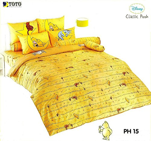 Disney Classic Pooh Bedding In Bag Set ; 1 Four Season Comforter With 4 Pieces Of Bed Fitted Sheet Set (King Size, Ph15) front-225596