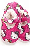 Hello Kitty Faces Pink Fuzzy Babba Slipper Socks Womens