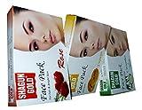 SHAGUN GOLD Face Pack Rose, Papaya, Cucumber+Neem, 100 gm each
