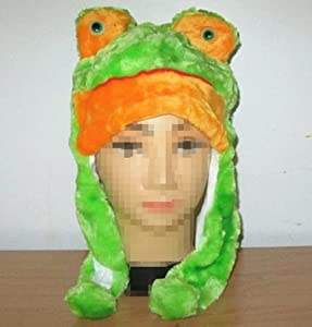 Hot Cosplay Cartoon Animal Frog Fluffy Plush Warm Hat Cap Xmas Gift US Ship