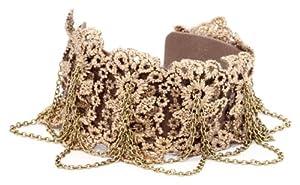 "Jessica Simpson ""Caitlyn"" Gold Cuff Bracelet"