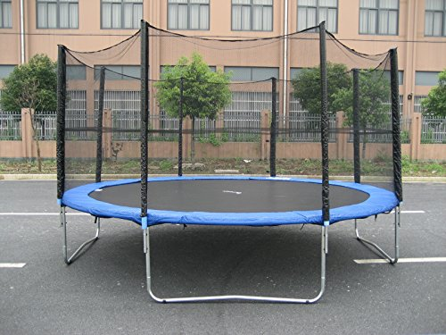 Find Cheap ExacMe 15' Ft Trampoline w/ Enclosure Net and Ladder All-in-one Combo Set S15