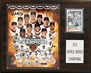 MLB San Francisco Giants 2012 World Series Champions 12 x 15-Inch Plaque by C&I Collectables