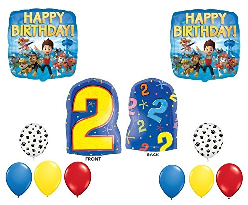 Paw Patrol 2nd Happy Birthday Balloon Decoration Kit