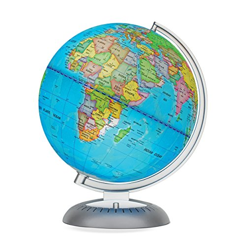 Illuminated World Globe for Kids With Stand,Built in LED for Illuminated Night View (Topographical World Map compare prices)