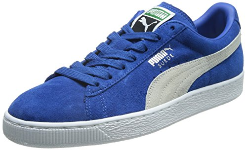 Puma Suede Classic+, Unisex Adults' Low-Top Sneakers, Strong Blue/Weiß, 5.5 UK