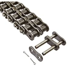 "Morse 80-2C 10FT Standard Roller Chain, ANSI 80-2, Cottered, 2 Strands, Steel, 1"" Pitch, 0.625"" Roller Diamter, 5/8"" Roller Width, 3700lbs Average Tensile Strength, 10ft Length"