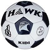 HAWK Unisex Rubber Football 5 White & Black