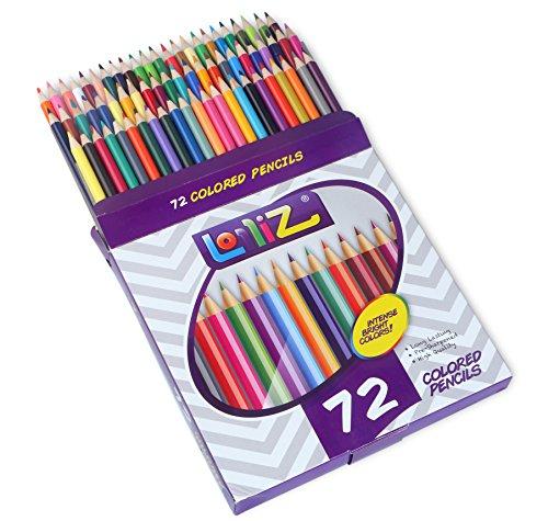 LolliZ® 72 Colored Pencils Set, with 72 Unique Color Choices!