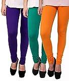 Lakos cotton chudidar pack of 3 leggings(6S-P3-DG-2)