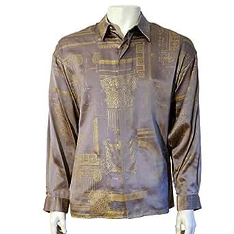 Cds men 39 s 100 silk shirt graphic m at amazon men s for Mens silk shirts amazon