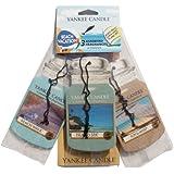 Yankee Candle (Bougie) - Beach Vacation - Pack de 3 Jarres Désodorisantes pour Voitures