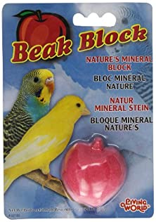 buy Living World Mineral Block, Apple (For Parakeets), 28.35 Grams
