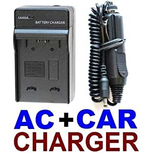 AC+CAR Battery Charger for Sony NP-FV50 NP-FP50 NP-FH70