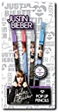 Official Justin Bieber 4 Pop Up Pencils