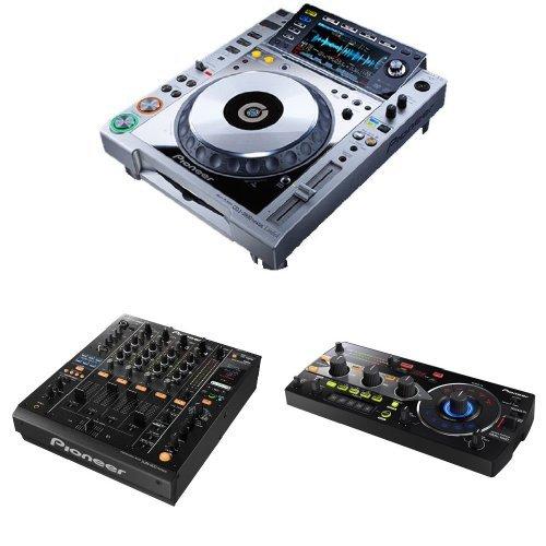 Pioneer Dj Set: 2 Cdj-2000-Nxs Digital Dj Turntables, Djm-900Nxs Professional Dj Mixer, And Rmx-1000 Remix Station Dj Mixer