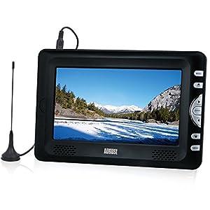 """August DTV705 Téléviseur Ecran LCD Haute Résolution Portable 7"""" - Décodeur TNT HD (MPEG4 / H.264) et enregistreur TV / Lecteur multimédia / Affichage photo / Batterie Interne Rechargeable / Télétexte + Accessoires"""