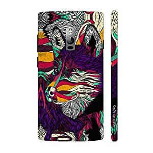 Enthopia Designer Hardshell Case What does the fox say? Back Cover for One Plus Two