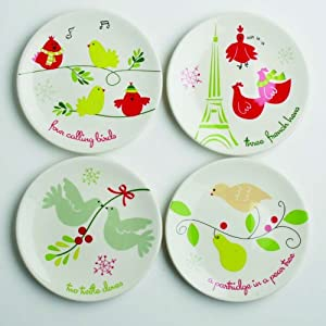 TAG 12 Days of Christmas Appetizer Plates - Set of 4 ...