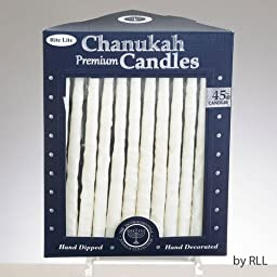 Hand Decorated Frosted White on White Candles