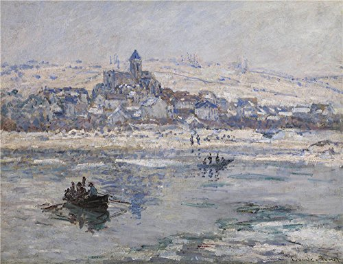 [Oil Painting 'Claude-Oscar Monet - Vetheuil In Winter, 1878-79' 8 x 10 inch / 20 x 26 cm , on High Definition HD canvas prints is for Gifts And Basement, Home Theater And Study Room Decoration,] (Plastic Surgery Costume Makeup)