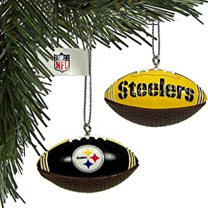 #!Cheap Pittsburgh Steelers 4 Mini Image Football Christmas Ornaments