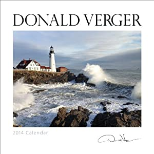 Donald Verger Signature Landscape 2014 Fine Art Nature Wall Calendar 12x12 Staple bound - Storms, Landscapes, Flowers, Seascapes, Lighthouses, Barns, Yosemite National Park - A Unique Great Gift on sale deal
