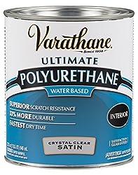 Rust-Oleum VARATHANE Water-Based Polyurethane for Interior Furniture & Wood Polish, 946 ml, SATIN Finish