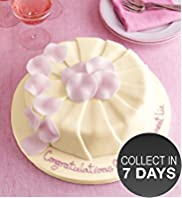 Ruffle Madeira Cake - Ivory & Pink