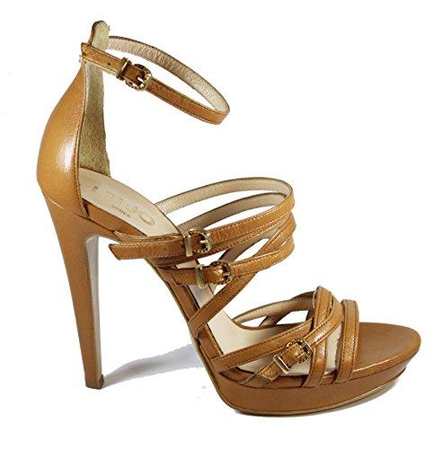 Liu-Jo sandali da gladiatore in pelle marrone cuoio (39)