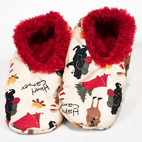 Happy Camper-Bear, Moose Fuzzy Feet Slippers by Lazy One (Lazy One Fuzzy Feet compare prices)