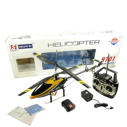 Co-axial Remote Control Rc Helicopter w/ Built in Gyro (colors may vary)
