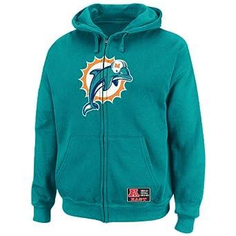 NFL Mens Miami Dolphins Classic Heavyweight III Aqua Long Sleeve Full Zip Fleece W... by VF LSG