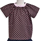 [Pink dot dancing chocolate place] short-sleeved smock (100cm tall size) made in Japan N1322910 (japan import)