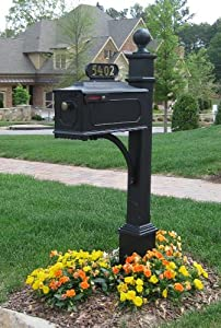The Estate Aluminum Mailbox and Post System - Style A
