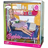 Barbie My House 12 Inch Fashion Doll - Couch And Doll With Barbie Doll, Furnitures, Plus Lots Of Acc