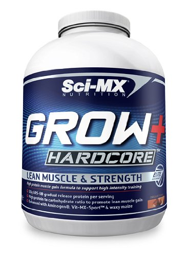 Sci-MX Nutrition Grow+ Hardcore 4000 g Chocolate Lean Muscle and Strength Shake Powder