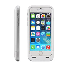 buy 1A Output 3500Mah External Battery Backup Charger Case Pack Power Bank For Iphone 6 4.7Inch (White + Silver)