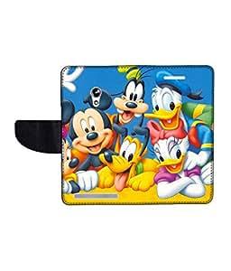 KolorEdge Printed Flip Cover For Asus Zenfone 4 A450CG Multicolor - (45KeMLogo11797Zen4A450CG)
