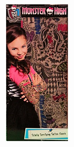 Monster High Totally Terrifying Tattoo Sleeves Pretend Play Colorful Design