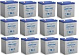 12V 5Ah Ion Block Rocker Uninterruptible Power Supply Audio Battery - 12 Pack