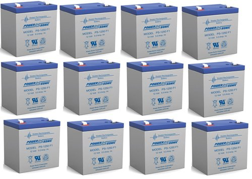 Ca1240 12V 4Ah First Alert Adt Alarm Battery New Ps-1250 - 12 Pack