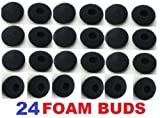 24 Pack Foam Earbud Earpad Ear Bud Pad Replacement Sponge Covers for Ipod Iphone Itouch Ipad Headsets